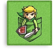 Pocket Link Legend of Zelda T-shirt Canvas Print