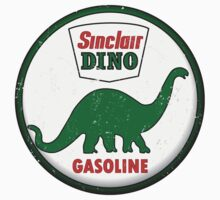 Sinclair Dino Gasoline vintage sign distressed Kids Tee