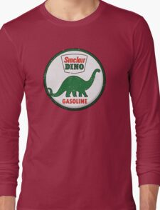 Sinclair Dino Gasoline vintage sign distressed Long Sleeve T-Shirt