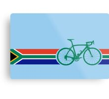Bike Stripes South Africa Metal Print