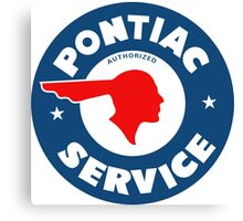 Pontiac Authorized Service vintage sign reproduction Canvas Print