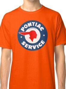 Pontiac Authorized Service vintage sign reproduction Classic T-Shirt
