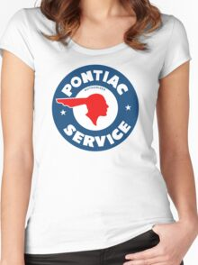 Pontiac Authorized Service vintage sign reproduction Women's Fitted Scoop T-Shirt