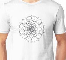 Poppy Flower Mandala Unisex T-Shirt