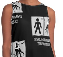 Real men have tentacles Contrast Tank