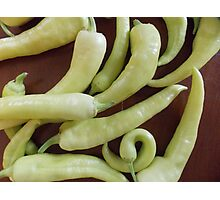 Banana Peppers Photographic Print