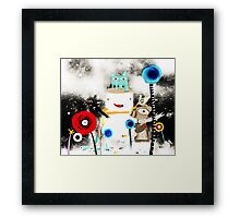Snowing. The sky turned black as the storm approached.  Framed Print