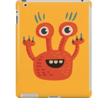 Funny Orange Creature iPad Case/Skin
