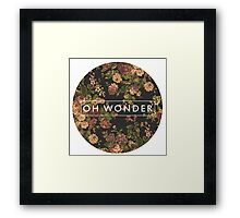 Oh Wonder Logo Framed Print