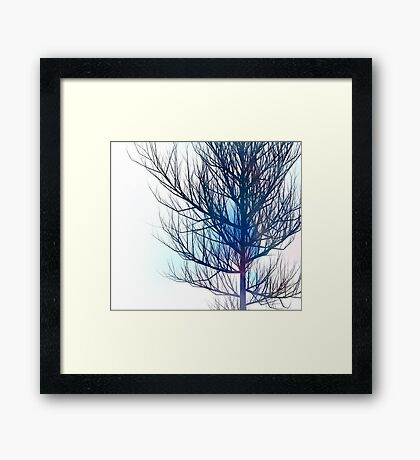 Tree in colour abstract Framed Print