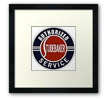 Authorized Studebaker Service vintage sign Framed Print