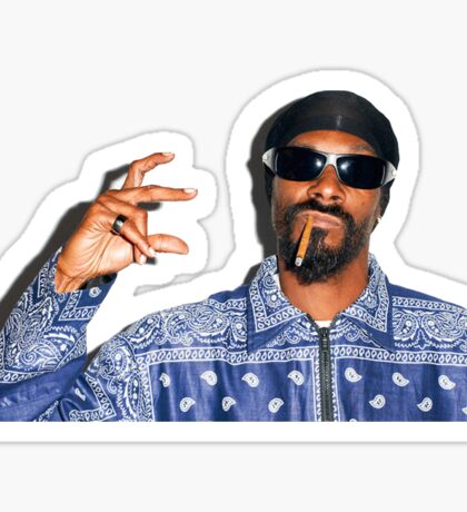 Snoop Dog X Crips Sticker