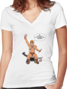 By the power of Ginger Skull ! Women's Fitted V-Neck T-Shirt
