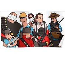 Team Fortress 2 - Cartoonified Team Design Poster