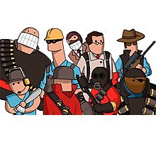 Team Fortress 2 - Cartoonified Team Design Photographic Print