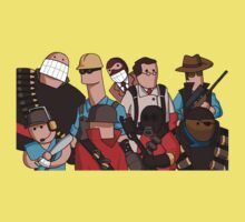 Team Fortress 2 - Cartoonified Team Design Kids Tee