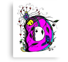 The Letter D  Coloured with Transparent Background Canvas Print