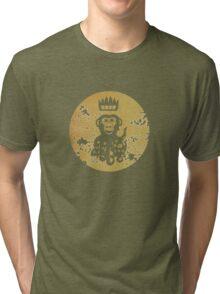 Acid Washed Octochimp Tri-blend T-Shirt