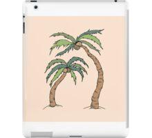 Palm Tree Print on Peach iPad Case/Skin
