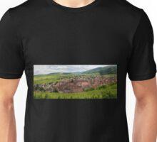 Panoramic View of Riquewihr and Surrounding Vineyards Unisex T-Shirt