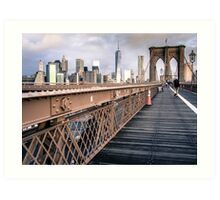 Brooklyn bridge Lower Manhattan Art Print