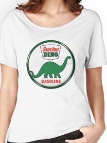 Sinclair Dino Gasoline vintage sign crystal vers. Women's Relaxed Fit T-Shirt