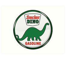 Sinclair Dino Gasoline vintage sign crystal vers. Art Print