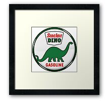 Sinclair Dino Gasoline vintage sign crystal vers. Framed Print