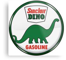 Sinclair Dino Gasoline vintage sign crystal vers. Metal Print