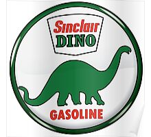 Sinclair Dino Gasoline vintage sign crystal vers. Poster