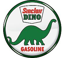Sinclair Dino Gasoline vintage sign crystal vers. Photographic Print
