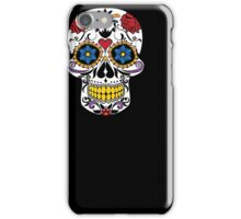 HALLOWEEN Large Fashion Floral Skull T-shirt,Luxury Tee iPhone Case/Skin