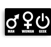 Man Woman Geek - Programmer Canvas Print