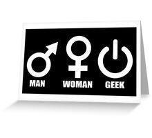 Man Woman Geek - Programmer Greeting Card