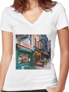 Veniero's Bakery Women's Fitted V-Neck T-Shirt