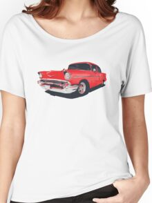 Chevy Bel Air 57 vector illustration Women's Relaxed Fit T-Shirt