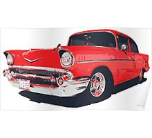 Chevy Bel Air 57 vector illustration Poster