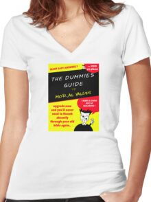 Moral Values for Dummies Women's Fitted V-Neck T-Shirt