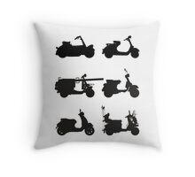 History of Vespa Throw Pillow