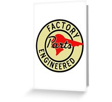 Pontiac Factory Parts vintage sign reproduction Greeting Card