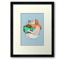 LAIKA AND ATLAS Framed Print