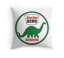 Sinclair Dino Gasoline vintage sign flat version Throw Pillow
