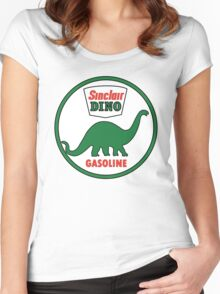 Sinclair Dino Gasoline vintage sign flat version Women's Fitted Scoop T-Shirt