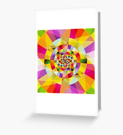 Colorful Abstract Swirly Tune Design (Fancy Fresh And Modern Hippy Style) Greeting Card