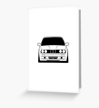 Young classic e30 Greeting Card