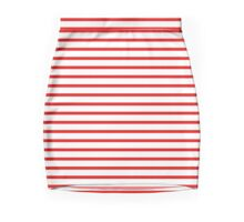 Red Stripe Dress Mini Skirt