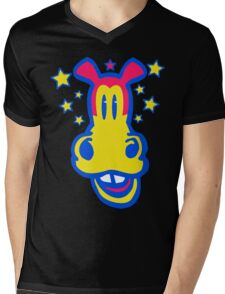 Smiling Cartoon Horse by Cheerful Madness  Mens V-Neck T-Shirt