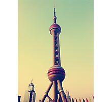 Pearl Tower Shanghai Photographic Print
