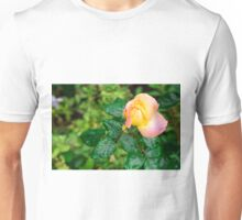 Small autumn rose with droplets Unisex T-Shirt