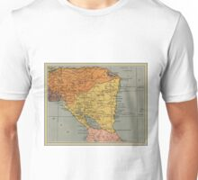 1937 Nicaragua map design - Central America - Caribbean Sea - Vintage map gift Unisex T-Shirt